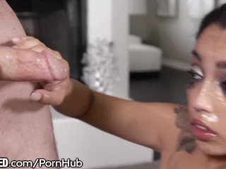 THROATED Vanessa Sky Goes BALLS Deep