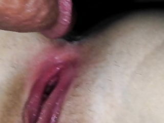 Amateur fucked, cum on her pussy 1