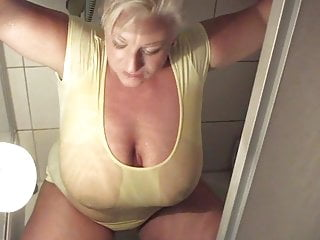Big Boobs Milf cock  Pissing
