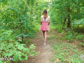 Cumming in My Panties and Pull Them Up in the Forest - Thanks for 10M Views