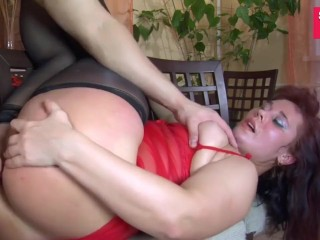 BBW Milf Gets Creampied After Doggy