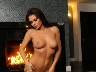 Big natural boobs MILF hottie from Canada striptease