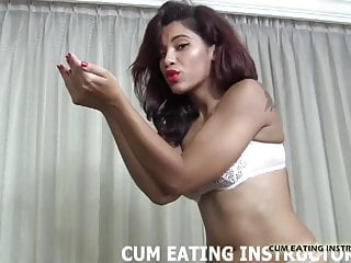 You are a cum eating little pervert CEI