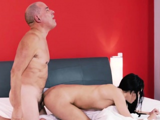 Hairy daddy bear Older gentleman and his princess
