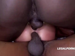 Interracial PMV Gangbang and Rough Sex