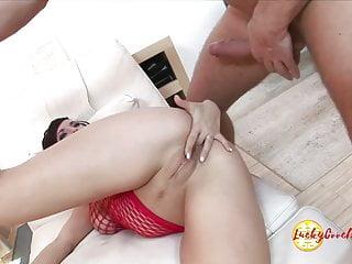 Deep penetrated cum bucket of juicy Asian bitch camel toe