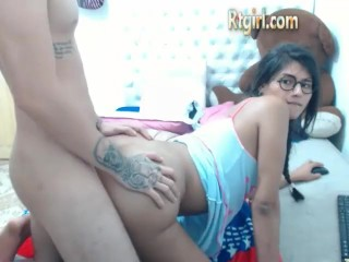 Big ass tgirl with glasses gets fucked anal Online