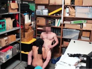 Redhead caught masturbating and fucked Suspect was