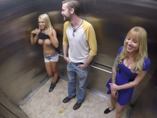 Topless Elevator Prank episode 3