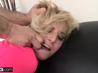 BANG Casting - Kate England Fish hooked & face fucked