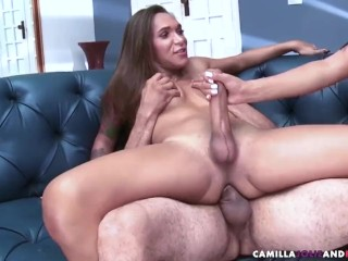 Threesome shemale sucked
