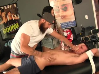 Cameron Kincade Tickled by Stefania and Dustin Steele