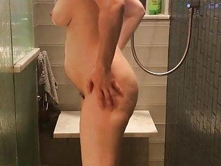 Hairy MILF Karen showers