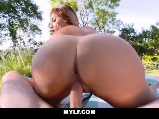 MYLF - Sexy Latina Mylf Fucked Outdoors
