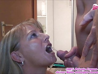 submissive german housewife piss in mouth in front of milf