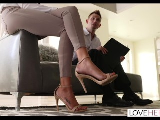 LoveHerFeet - Divorce Lawyer Toe Sucks His Client's Pretty Petite Feet