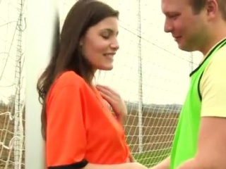 Shy russian teen Dutch football player smashed by photograph
