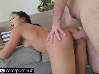 BANG Gonzo: Asian Slut Morgan Lee Gets Orgasmic Ass Licking & Pounding