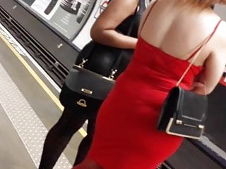 Candid Curvy Girls In Skin Tight Dress Thick Ass