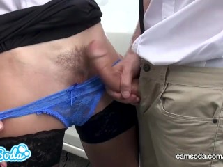 Mom and Stepson Sperm on Pussy. Cum in Panties, Wet Panty, Wet Pussy