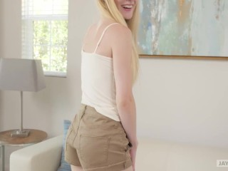 JAY'S POV - FIRST TIME TEEN BLONDE EMMA GETS HER HAIRY PUSSY POUNDED