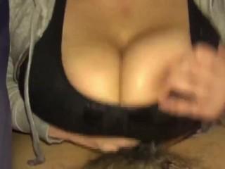 Uncensored Asian Amateur Titty Fucking (Paizuri)