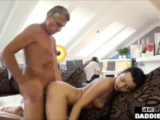 Old Man Taboo Fucks His Sons Girlfriend In Same Room