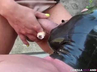 Tranny fucks fetish dude