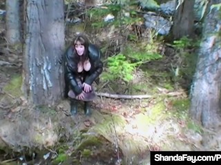 Horny HouseWife Shanda Fay Slobbers On Cock In Mountains!