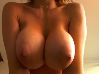 Alisonfire playing with her massive boobs