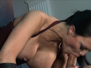 Busty Jasmine Jae satisfies two dicks