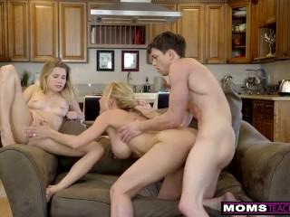 MomsTeachSex - BigTit Aunt Brandi Love Helps Teens Fuck S8:E8