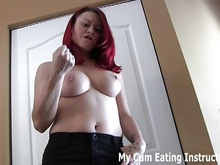 Eat your cum for me two times in a row CEI