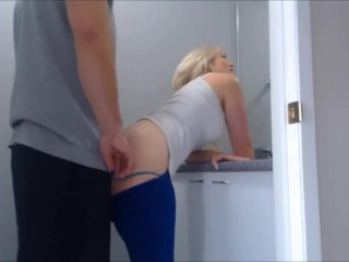 Step mom fucked by son in toilet
