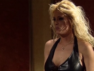 Gorgeous Desert Rose teased by MILF dyke pussy while in cage