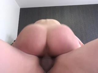 Brunette takes biggest Cumshot EVER!