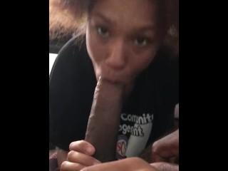 Lawren Marie sucks Instagram @Charlito901 dick