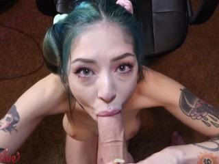 GamerGirl Gets A Creampie After Stream