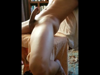 Hung twink cums big after edging