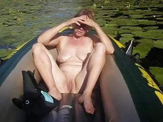 Mature wife outdoors