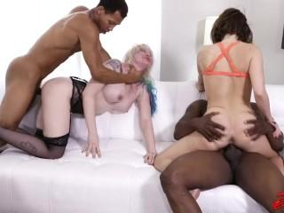 Horny White MILFs Taking On Black Studs