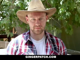 GingerPatch - Sexy Ginger Dicked Down By Cowboy